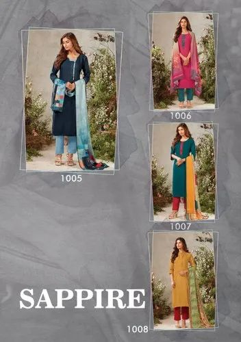 Straight Stitched Ladies Woolen Salwar Suits
