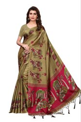 New Design In Kalamkari Style  Saree