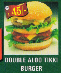 Double Aloo Tikki Burger