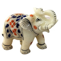 Marble Elephant Trunk Up MB002