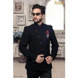Mens Black Jodhpuri Suit