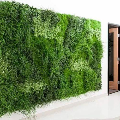 Green Artificial Vertical Grass Wall, Rs 150 /square Feet