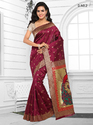 Maroon Womens Silk Saree