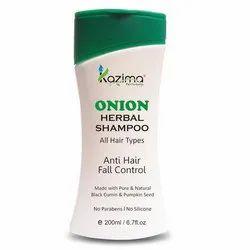 Dandruff,Hair Fall Kazima Onion Herbal Hair Shampoo, Packaging Type: Bottle