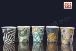 Rachana Kraft Printed 210 ml Disposable Coffee Cup, Packet Size: 100