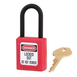 Nylon Shackled Electrical Lockout Padlock, Packaging Size: <10 Piece