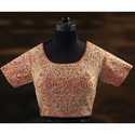 Resham Work U Shaped Neck Blouse