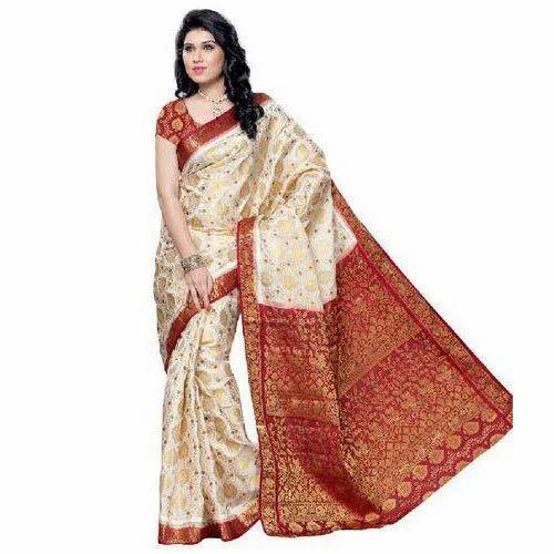239f26507f Printed Casual Wear Ladies Banarasi Saree, 6 M With Blouse Piece, Rs ...
