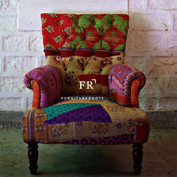 Indian Recycled Fabric Armchair