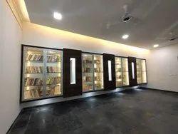 Library Interior Designing, Work Provided: False Ceiling/POP