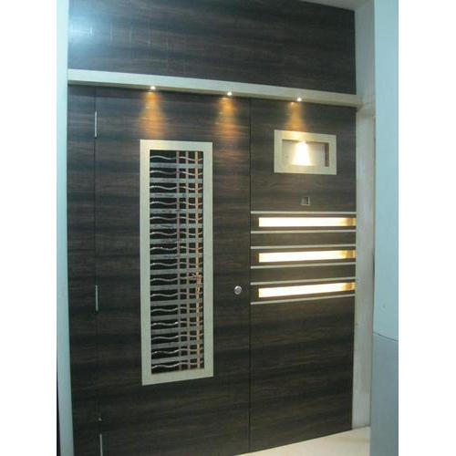 Wood Wooden Safety Door Rs 13000 Piece Nakshatra Ply