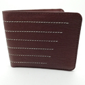 Mens Brown Stylish Leather Wallet, Packaging Type: Box