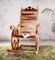 Brown Wooden Rocking Chair