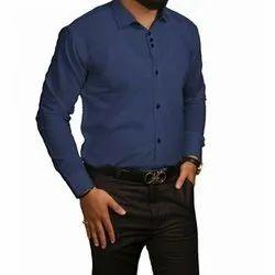 Live on Full Sleeves Men Formal Plain Shirt, Size: 38/40/42/44