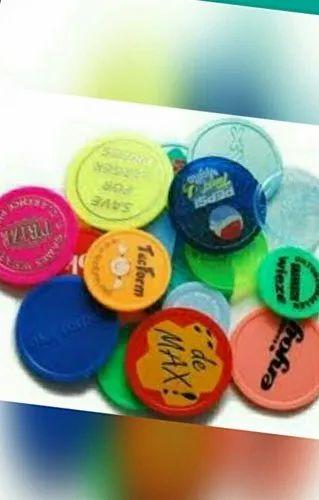 Multicolor Plastic Coin Token Manufacturers | ID: 20824683097