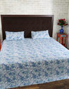 Jaipuri Hand Block Printed Floral Cotton Quilted Bed Sheet