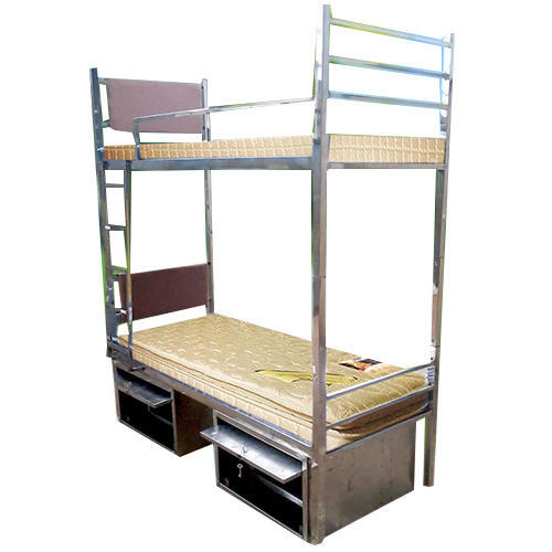 SS Hostel Bunk Bed With Locker, With Box