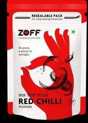 Zoff Red Chilli Powder, Packaging Type: Packets