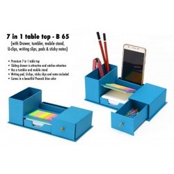 Peacock Blue Color 7 in 1 Table Top