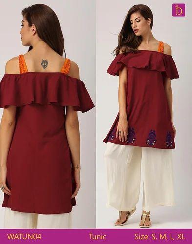 d349b5a62d1 Tunic - Tunic Tops Tunics for Women Knee Length Kurta with Khadi Print and  Curved Hemline Kurta Tunic Dress Manufacturer from Bengaluru