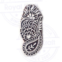 Brown Paisley Wooden Block For Printing