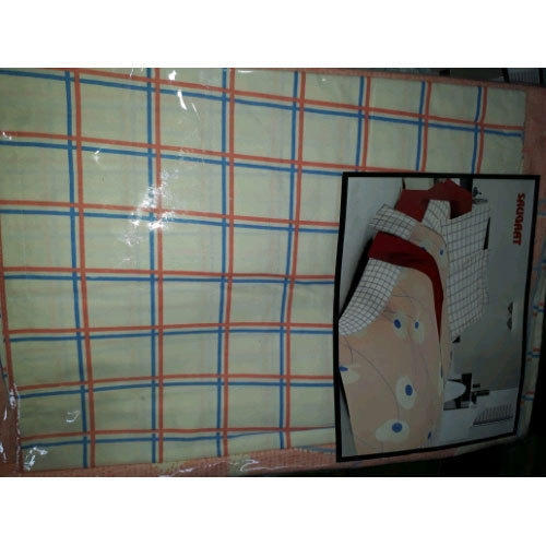Checkered Cotton Double Bed Sheet Packaging Type Packet