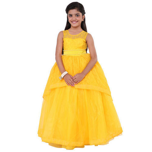 08f27267763b5 Net Kids Yellow Gown, Packaging Type: Corrugated Box, Rs 800 /piece ...