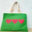 Green Jute Designer Handbag