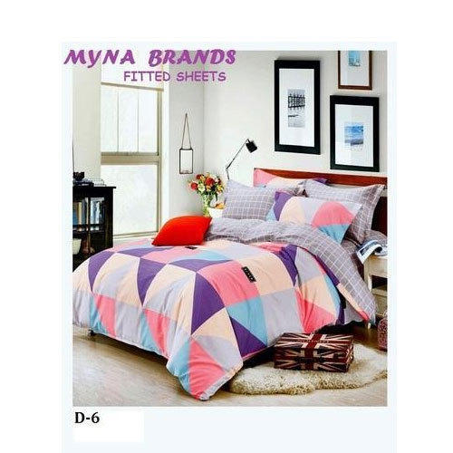 Printed Cotton Cotton Fitted Bed Sheet Rs 900 Piece Myna Brands