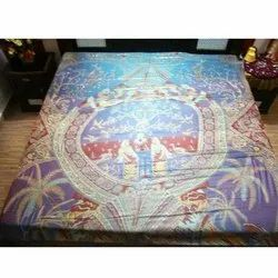 Indian Silk Bed Sheet Fabric