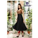 Georgette Casual Wear Black Raashi Bangalore Kurtis, Machine Wash, Size: S, M And L