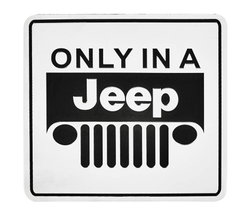 Embossed Jti Only In a Jeep 3D Metal Emblem Badge Decal (Set Of 5)
