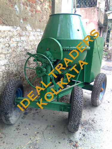 IDEAL Round Concrete Mixer Machine, for Construction, Drum Capacity: 500 L