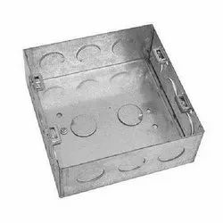 Galvanized Iron Square GI Electrical Junction Box, For Electric Fitting, Dimension: 4 X 4 Inch