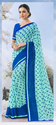 Casual Wear Printed Georgette Saree With Unstitched Blouse