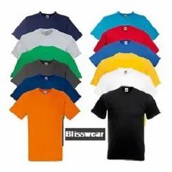 S-XL Half Sleeve Mens Plain Cotton T Shirt