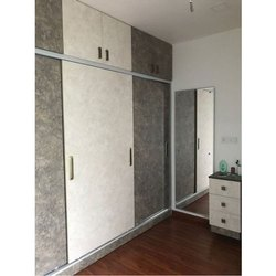Plywood Modern MDF Modular Wardrobe, Height: 8-9 feet