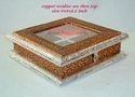 Dry Fruit Box Copper Oxidise