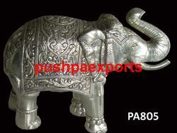 Silver Carving Elephant Statue