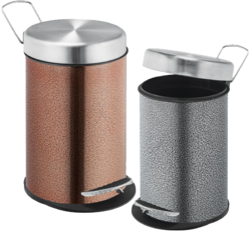 Copper & Silver Finish Peddle Dustbin