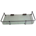 Rudrax 12x5 And 15x5 Square Glass Shelf