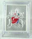 Silver Durga Ji Frame