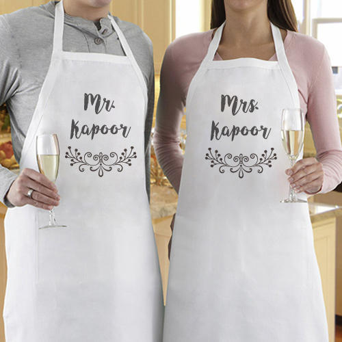 Mr And Mrs Personalized Aprons