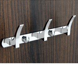 Fallon Bath Silver Docoss Classic Coat Hook, Chrome Plating