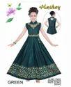 Green Designer Frock Dress