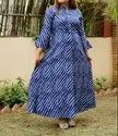 Ethnic V.O.Couture Cotton Printed Gown