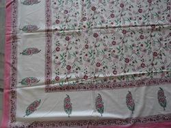Hand Block Printed Cotton Fabric Jaipuri Bed Cover