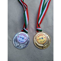 Round Shape Gold And Silver Medal