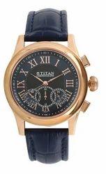 Titan Classique Blue Dial Chronograph Watch For Men