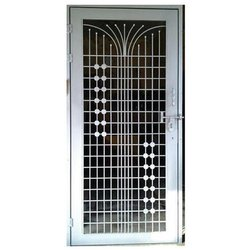 Silver Powder Coated Iron Doors, For Home